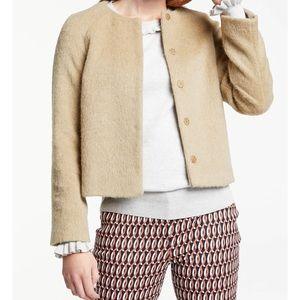 Boden sz 12 Jacket Camel Crop Sienna Mohair Wool